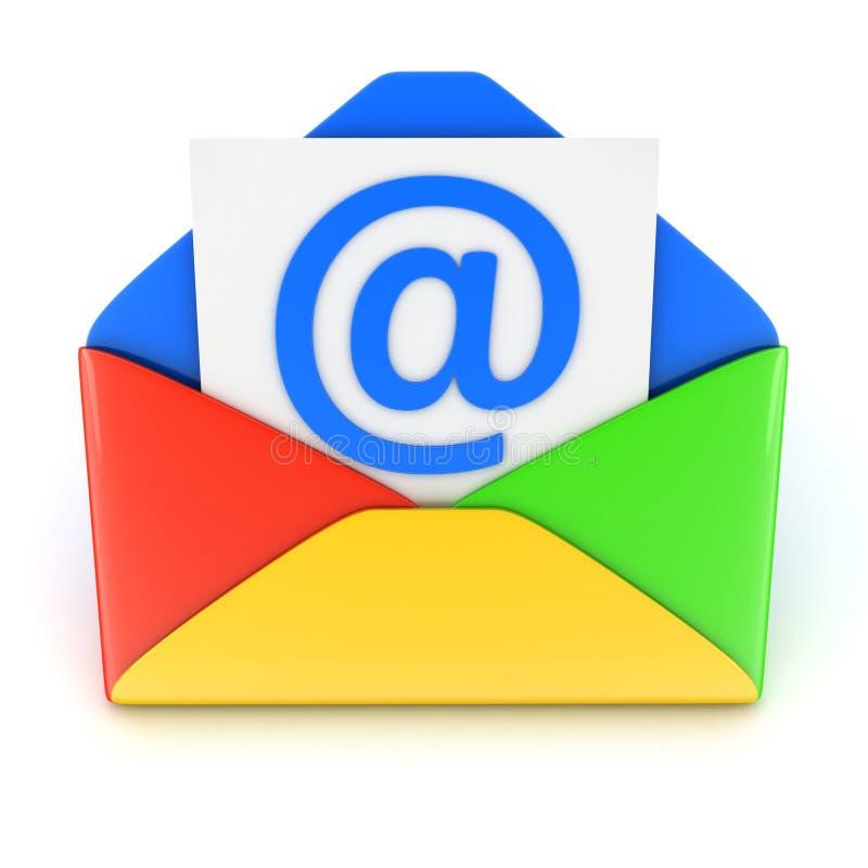 Blauwe E-mail royalty-vrije illustratie