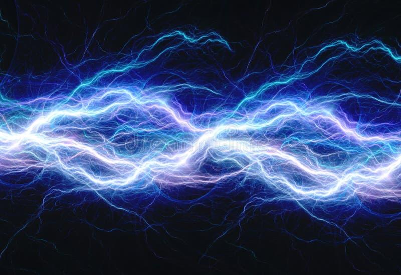 Blauwe elektrische bliksem stock illustratie