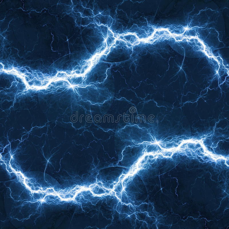 Blauwe elektrische verlichting stock illustratie