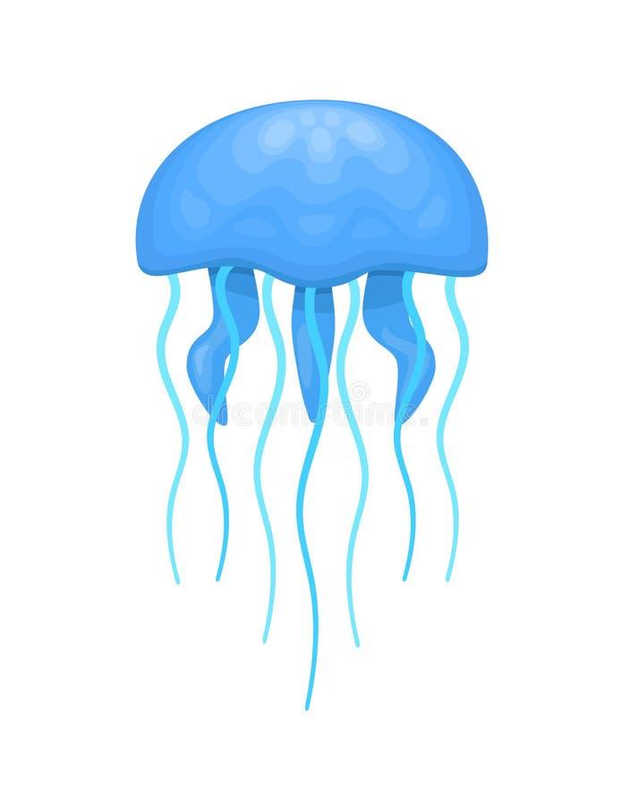 Blauwe en cyaankwallen vector illustratie