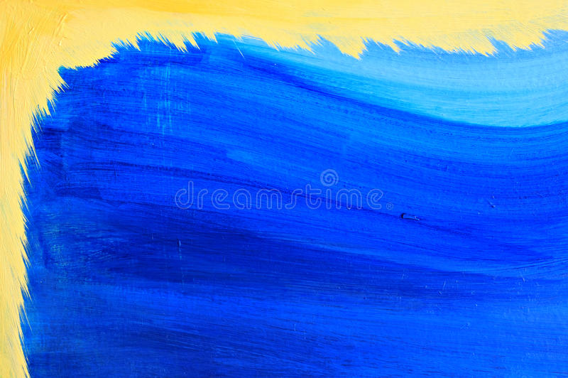 Blauwe en gele achtergrond. royalty-vrije stock foto