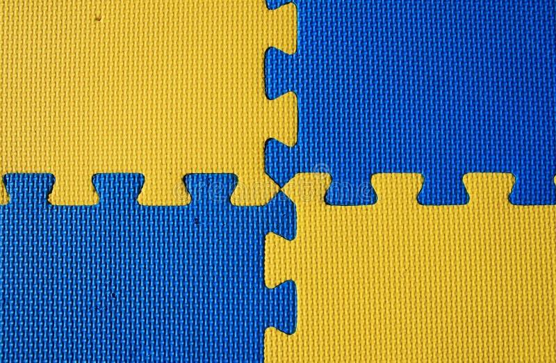 Blauwe en gele achtergrond royalty-vrije stock afbeeldingen