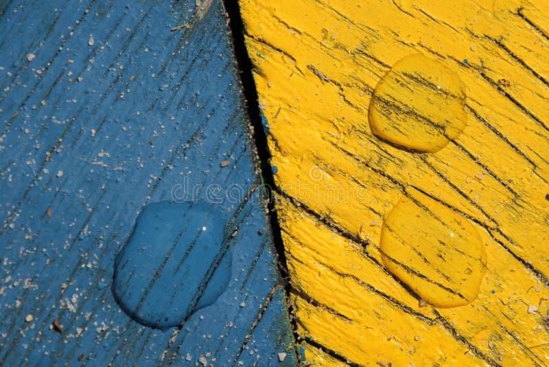 Blauwe en gele backround stock afbeelding