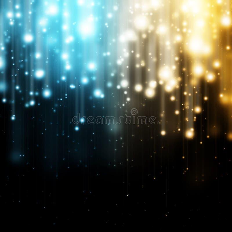 Blauwe en gele lichten stock illustratie