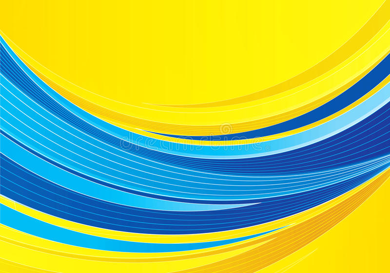 Blauwe en gele samenstelling als achtergrond royalty-vrije illustratie