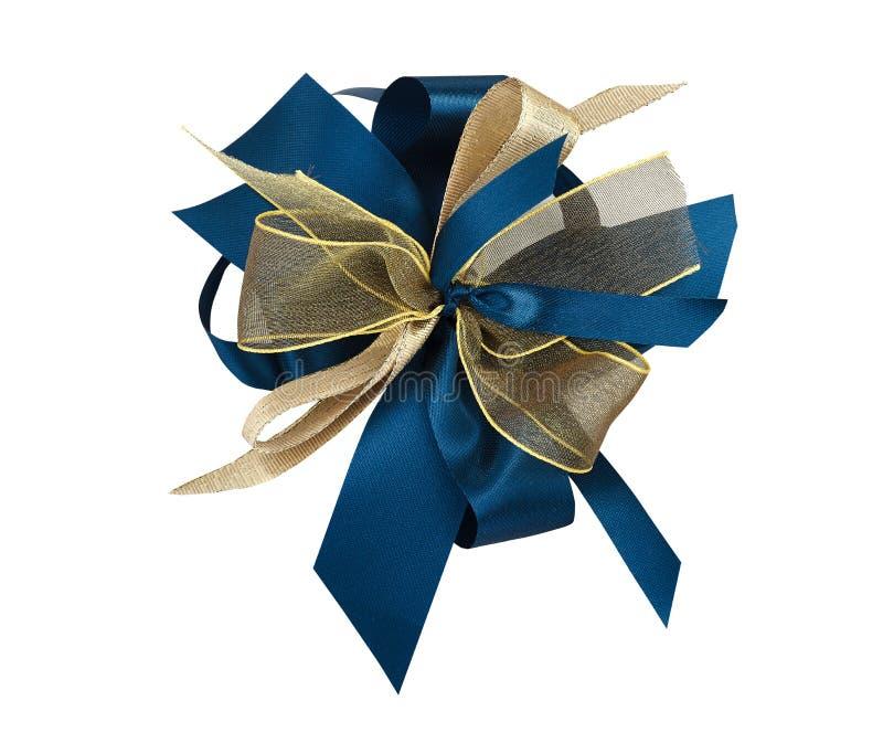 Blauwe en gouden knoop