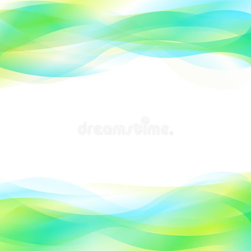 Blauwe en Groene Abstracte Achtergrond stock illustratie