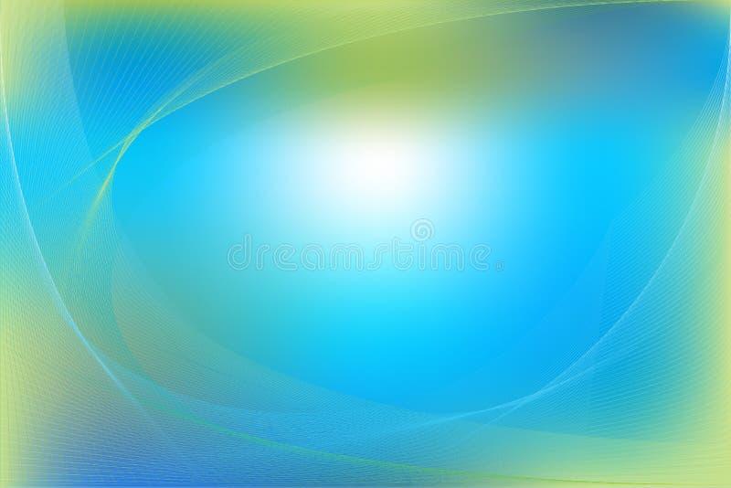 Blauwe en Groene Abstracte Achtergrond. Vector
