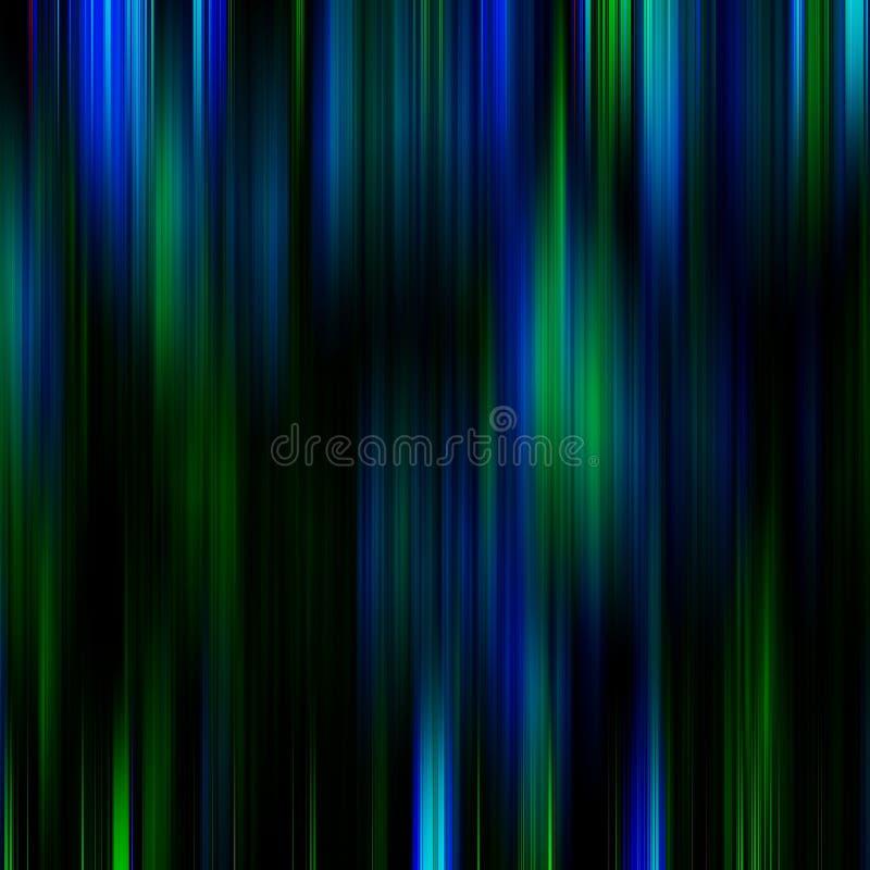Blauwe en groene geheimzinnige abstracte achtergrond stock illustratie