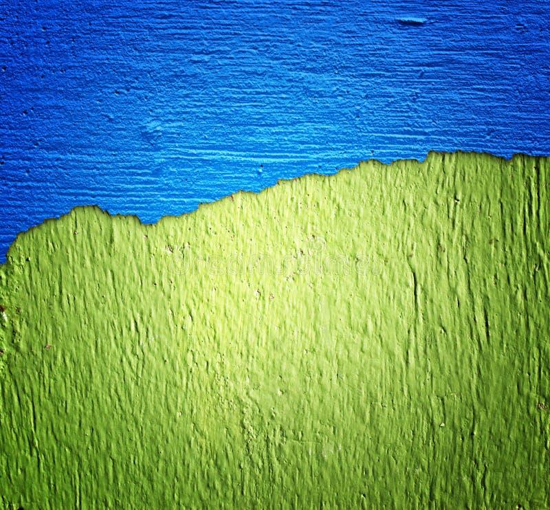 Blauwe en groene muurtextuur royalty-vrije illustratie