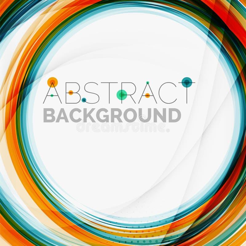 Blauwe en oranje rassenbarrière abstracte achtergrond vector illustratie