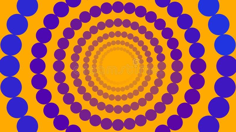 Blauwe en purpere cirkels vector illustratie