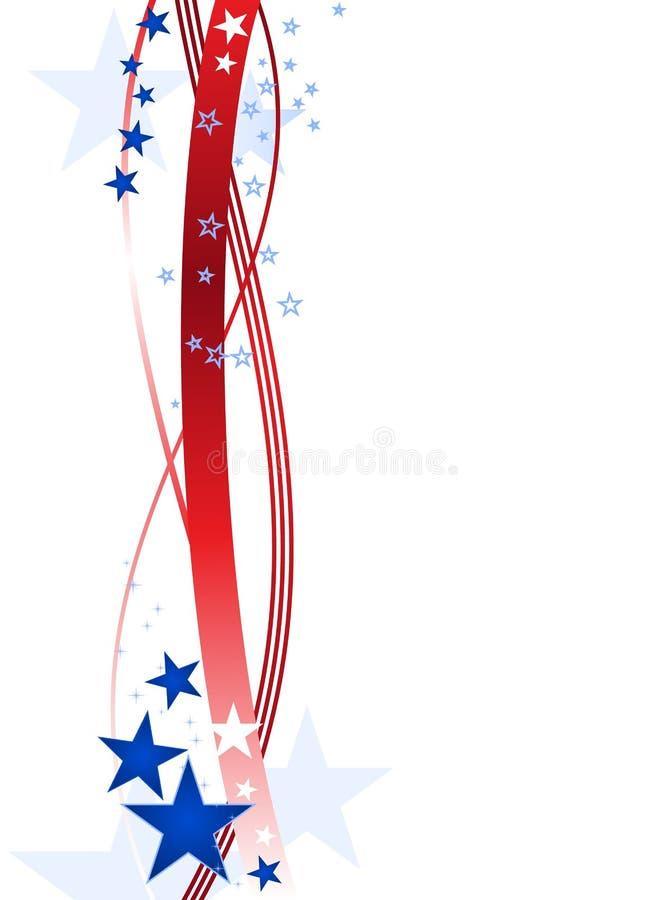 Blauwe en rode sterren en strepen royalty-vrije illustratie