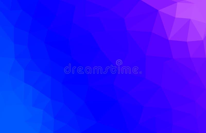 Blauwe en roze Abstracte veelhoekige achtergrond royalty-vrije illustratie