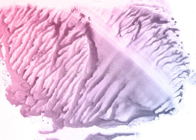 Blauwe en roze de textuurdocument van de bloemwaterverf achtergrond, mooie creatieve planeet royalty-vrije stock afbeeldingen
