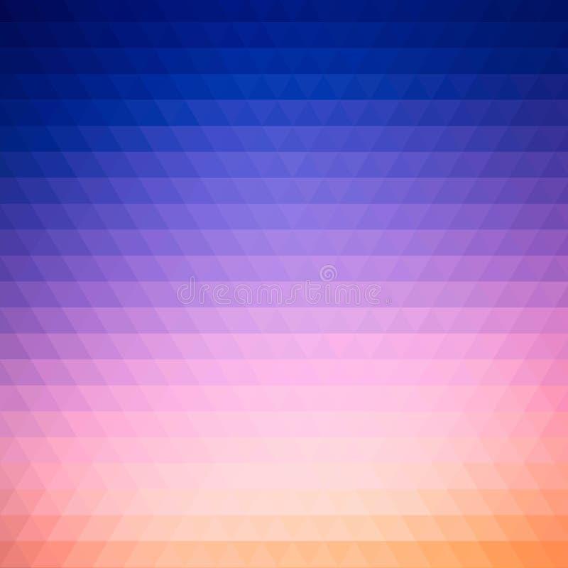Blauwe en roze driehoeken, illustratie in veelhoekige stijl Eps 10 royalty-vrije illustratie