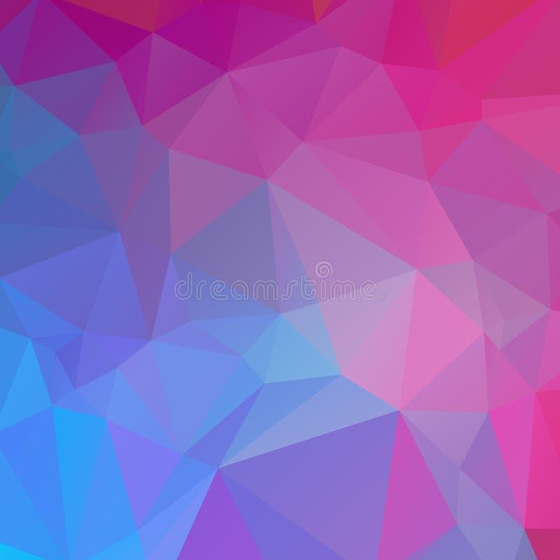 Blauwe en roze veelhoektextuur stock fotografie