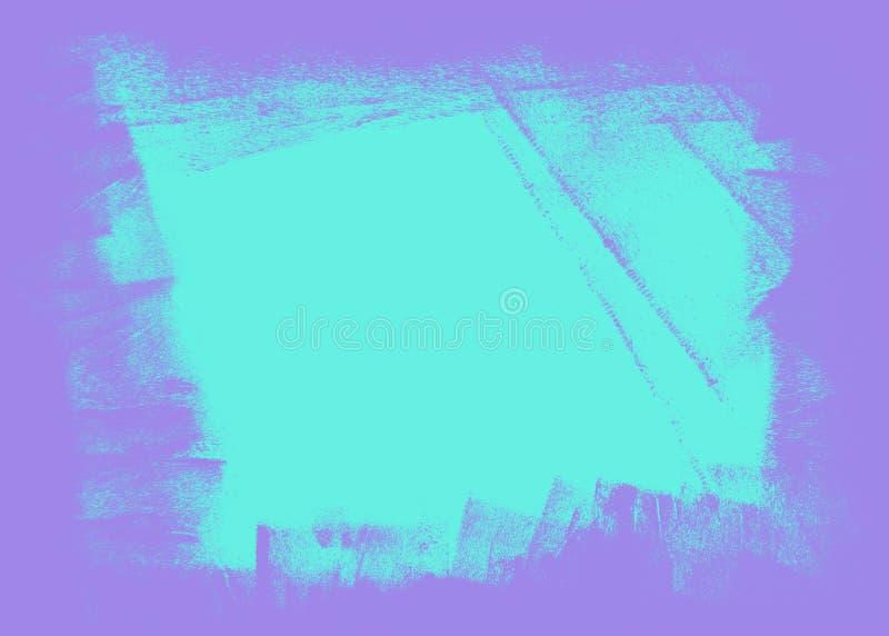 Blauwe en violette hand geschilderde textuur als achtergrond stock illustratie
