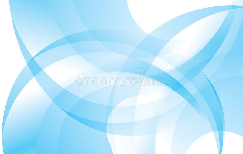 Blauwe en witte abstracte vectorachtergrond royalty-vrije illustratie