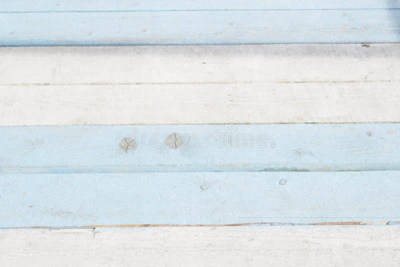 Blauwe en witte achtergrond, mariene thema geschilderde Raad stock fotografie