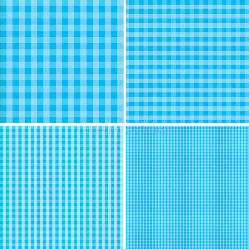 Blauwe en witte achtergrond voor picknicks Eps 10 vector illustratie