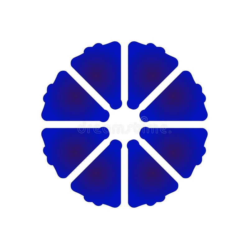 Blauwe en witte bloem vector illustratie
