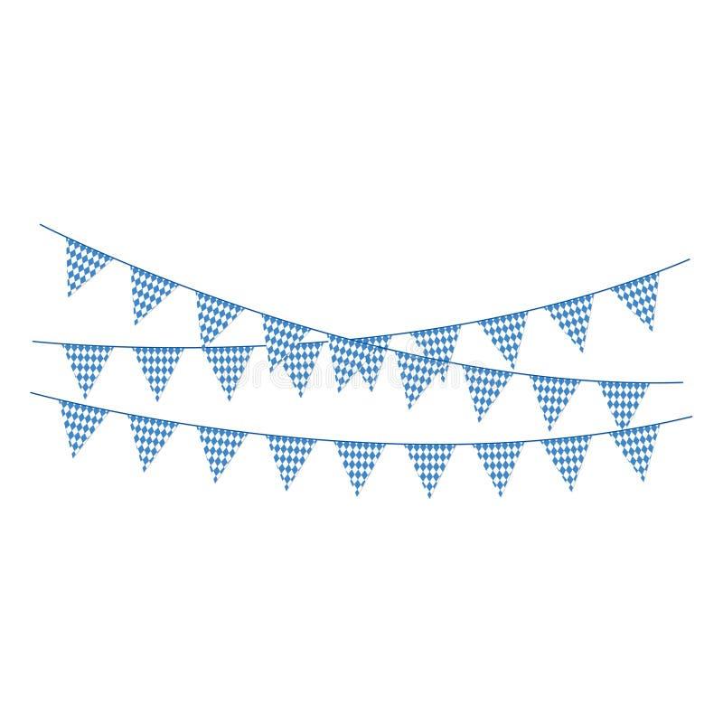 Blauwe en Witte Bunting Banners vector illustratie