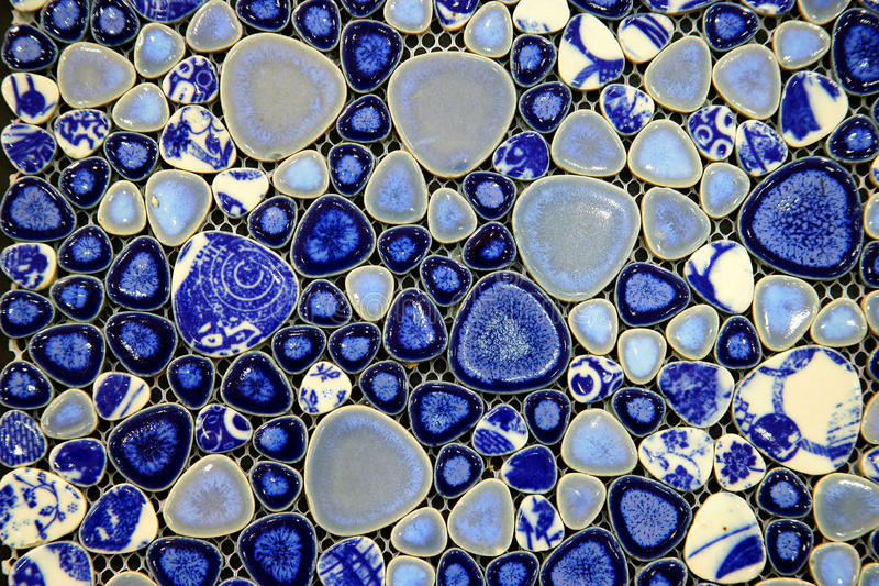 Blauwe en witte ceramiektegel stock foto