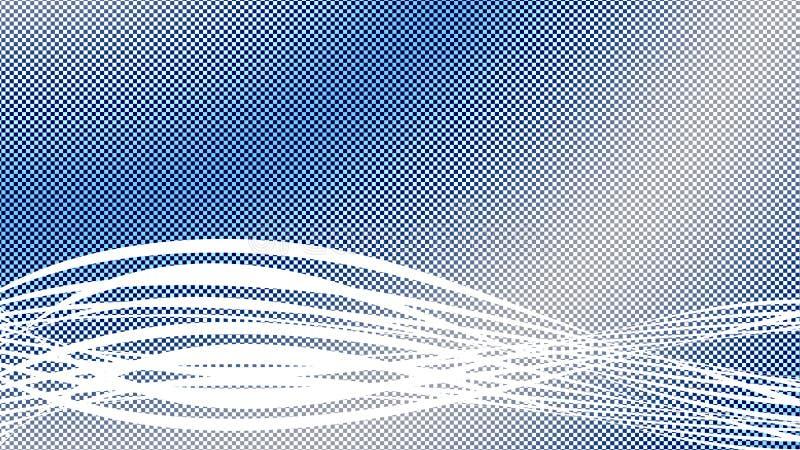 Blauwe en witte geruite achtergrond vector illustratie
