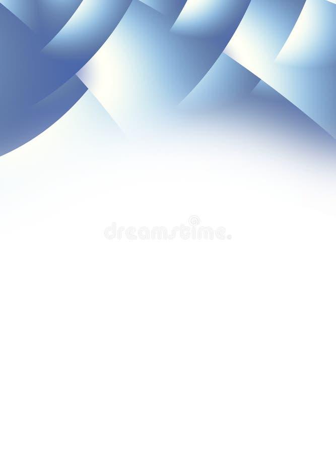 Blauwe en witte gradiëntkopbal met gestileerde overlappende pagina's royalty-vrije illustratie