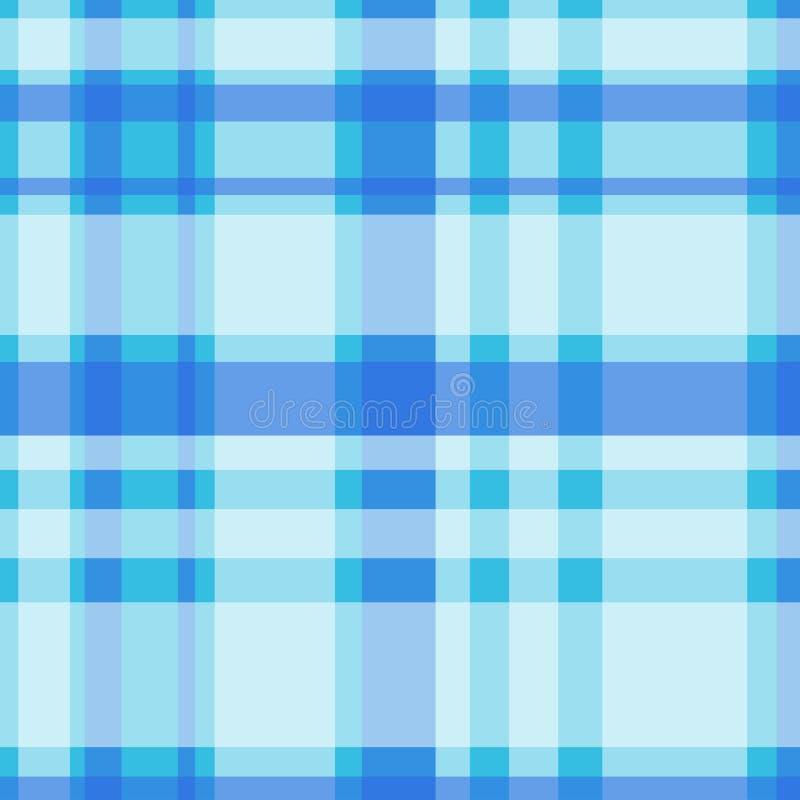 Blauwe en witte lijstdoek Achtergrond Vector illustratie stock illustratie