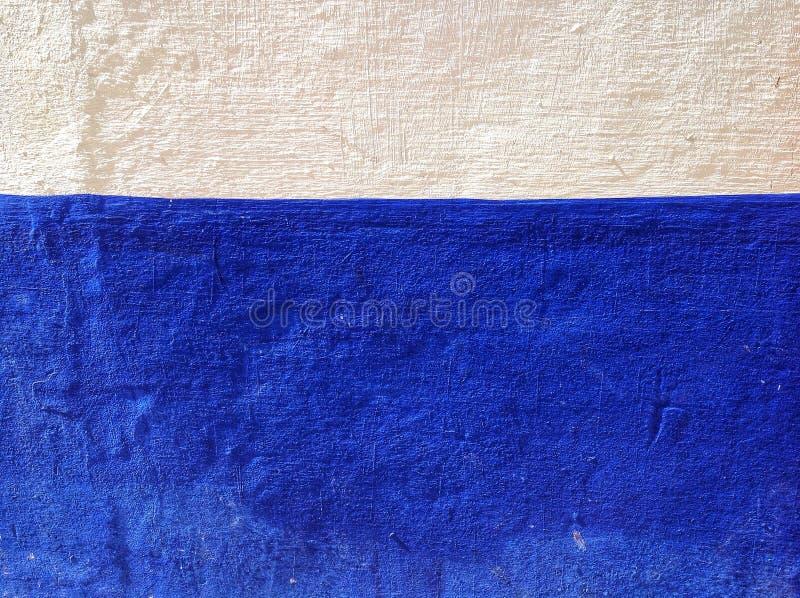 Blauwe en witte muur royalty-vrije stock afbeeldingen