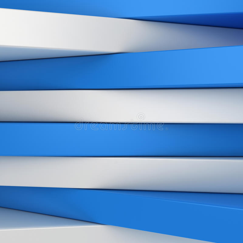Blauwe en witte panelen stock illustratie