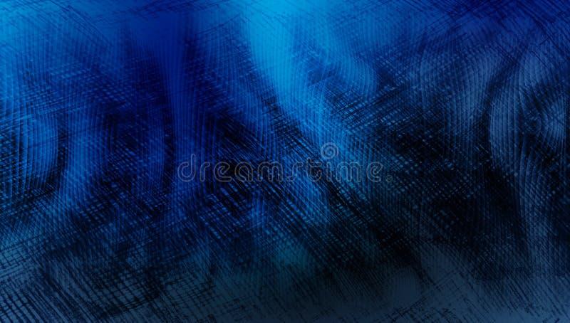 Blauwe en zwarte in de schaduw gestelde geweven achtergrond document grunge achtergrondtextuur Achtergrond behang stock illustratie
