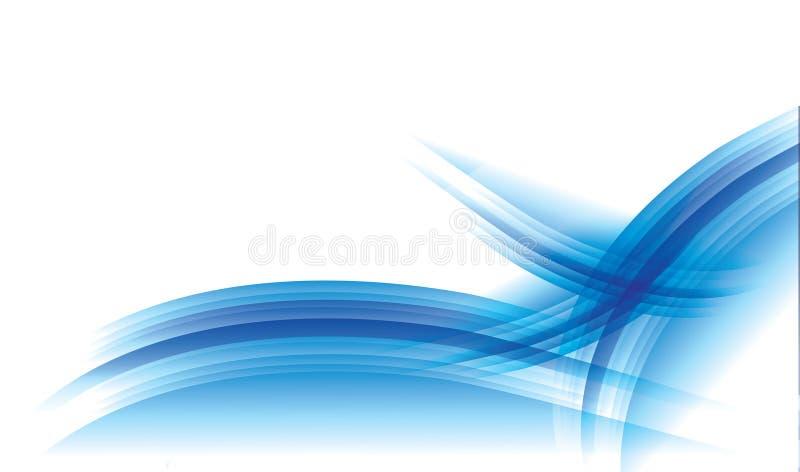 Blauwe energieachtergrond royalty-vrije illustratie