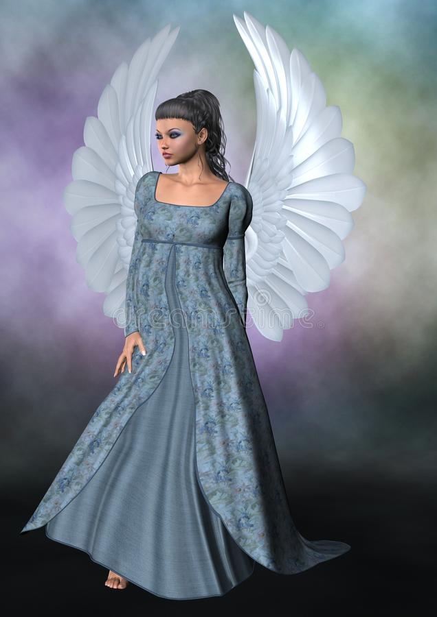 Blauwe Engel royalty-vrije illustratie