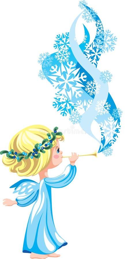 Blauwe engel vector illustratie