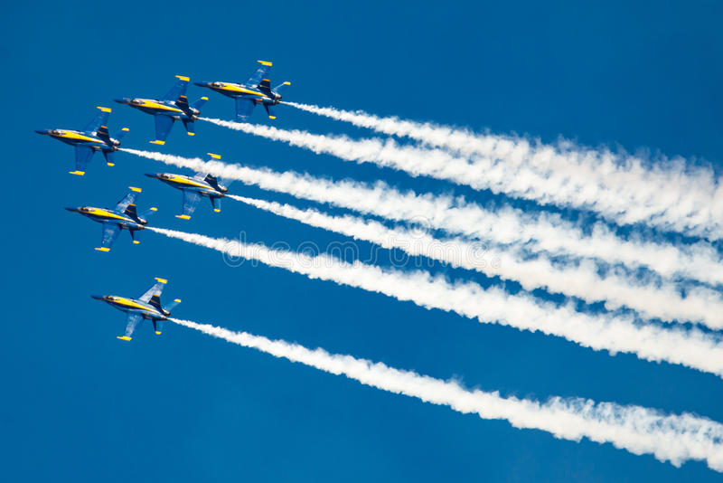 Blauwe Engelen in Vorming royalty-vrije stock foto's