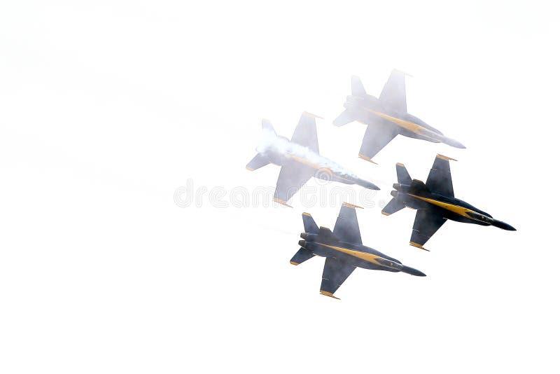 Blauwe engelenvorming in wolken royalty-vrije stock foto