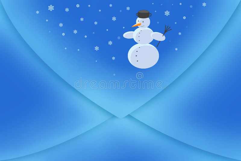 Blauwe envelop stock foto's