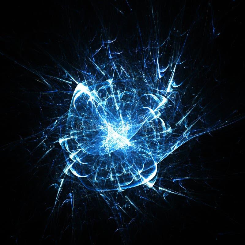 Blauwe explosie royalty-vrije illustratie