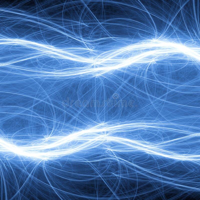 Blauwe fantasiebliksem vector illustratie