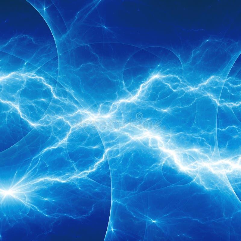 Blauwe fantasiefractal bliksem stock illustratie