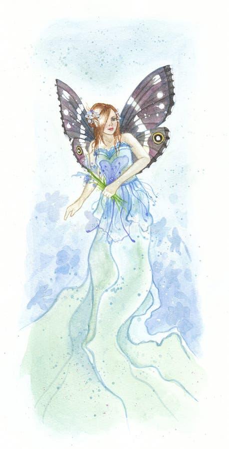 Blauwe fee royalty-vrije illustratie