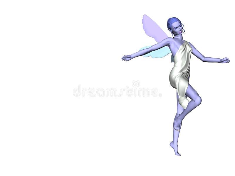 Blauwe Fee Elf vector illustratie