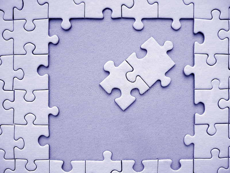Blauwe figuurzaagelementen stock afbeelding