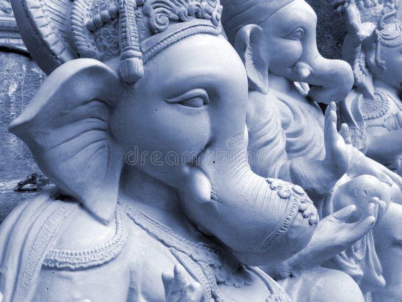 Blauwe Ganesha stock fotografie