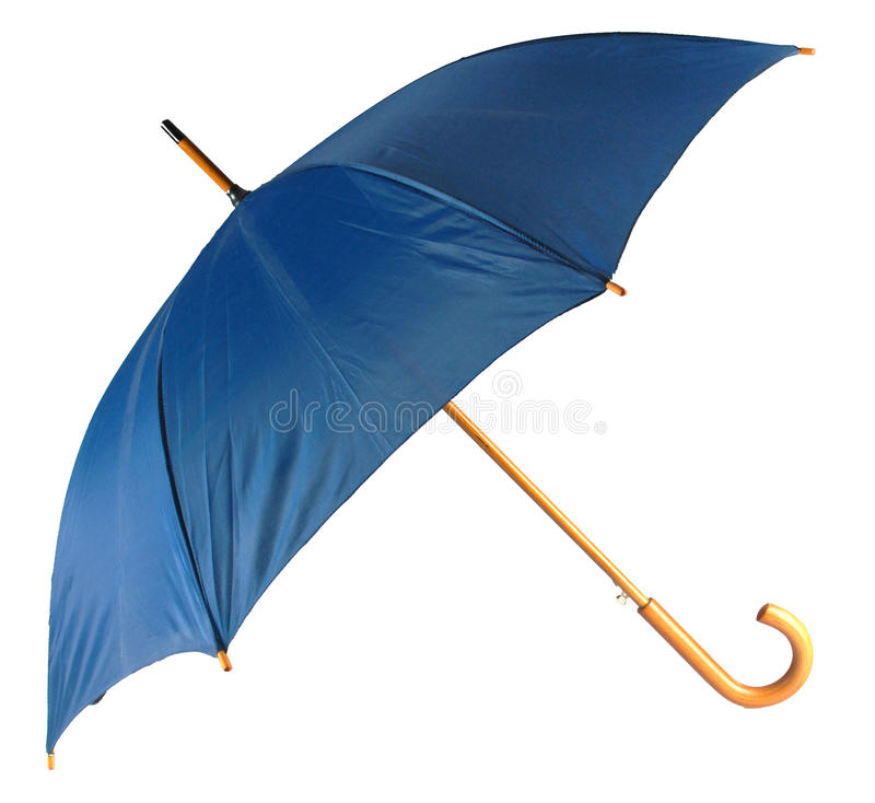 Blauwe geïsoleerdes paraplu stock foto's