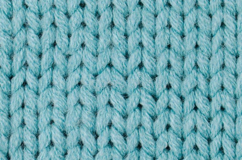 Blauwe gebreide wol stock afbeelding