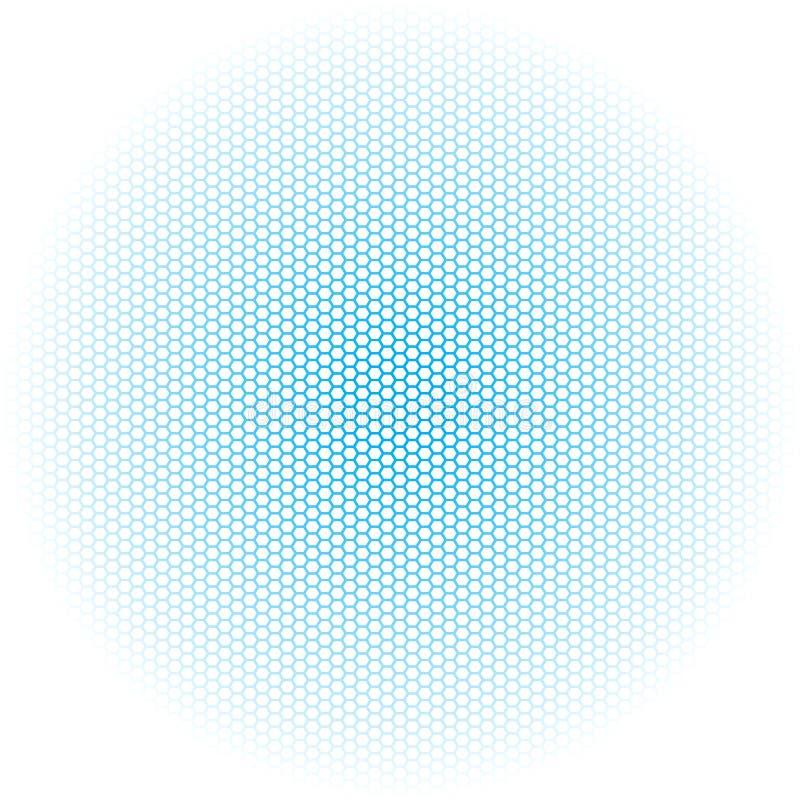 Blauwe gegrenste hexagon dozen op witte achtergrond stock illustratie